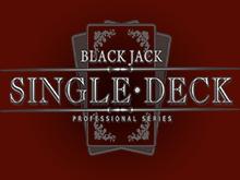 Single Deck Blackjack Professional Series автомат на рубли от NetEnt